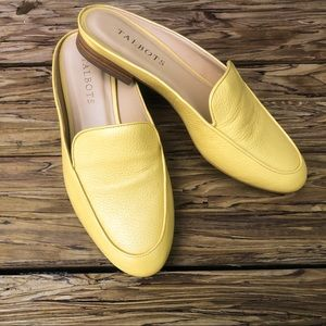 Talbots Yellow Frannie Mule Slip On Shoes 6.5